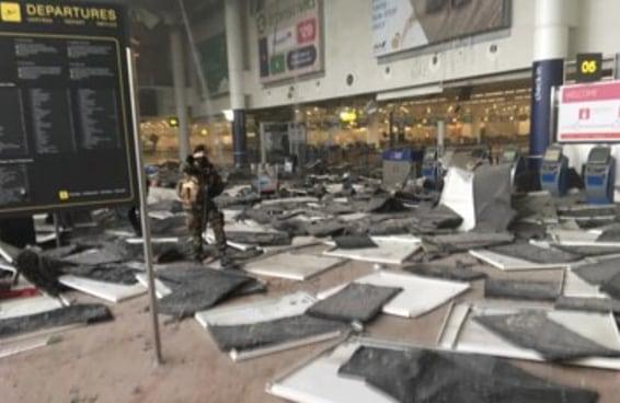 Imagens do ataque em Bruxelas
