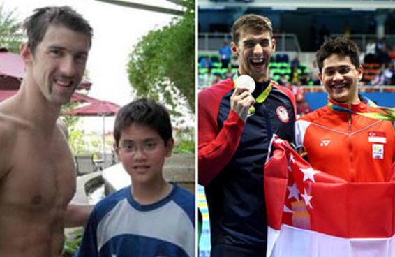 Nadador de Cingapura vence seu ídolo de infância, Michael Phelps, no nado borboleta