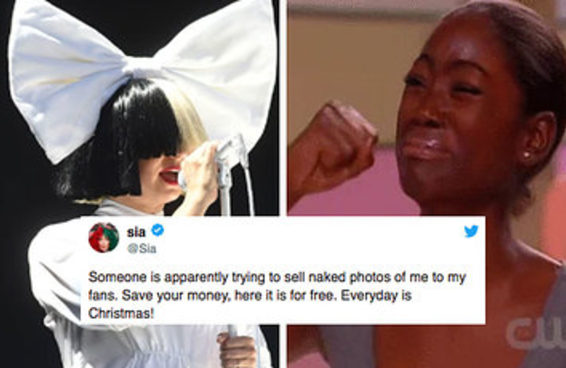 Alguém tentou vender fotos da Sia nua e ela respondeu à altura