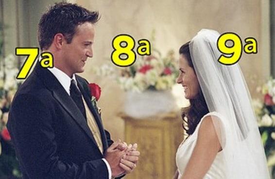 """Você lembra em qual temporada as coisas acontecem em """"Friends""""?"""