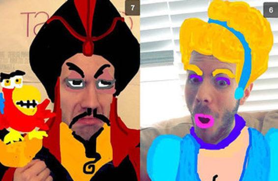 Este cara está fazendo incríveis Snapchats inspirados na Disney