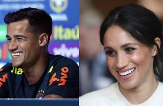 Você já reparou como o Philippe Coutinho e a Meghan Markle se parecem?