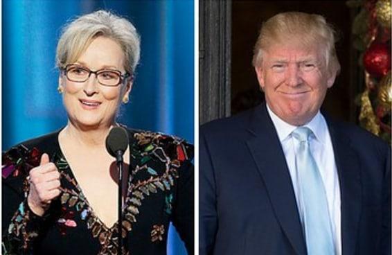 """Depois de ser criticado por Meryl Streep, Trump disse que a atriz é """"superestimada"""""""