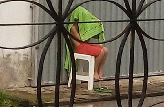 Esta imagem prova que o brasileiro não tem limites quando quer usar a internet