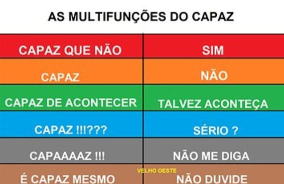 """Esta tabela ajuda o resto do Brasil a entender o significado de """"capaz"""""""