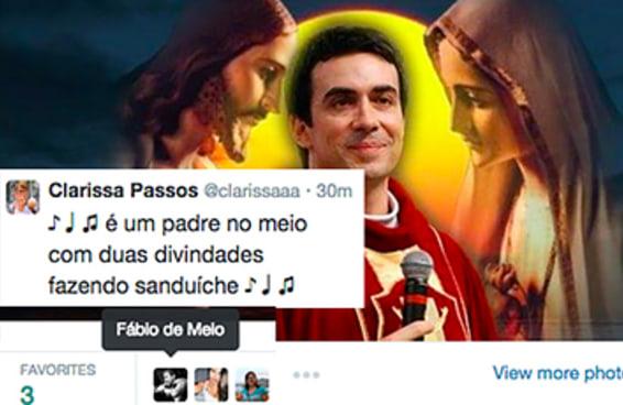 """O padre Fabio de Melo favoritou um tuíte com a """"Dança do Maxixe"""""""