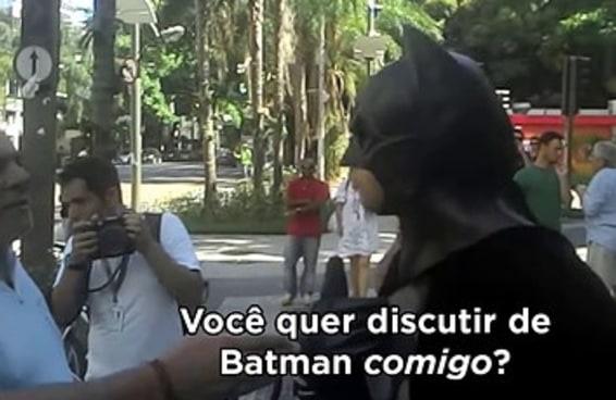 Talvez seja hora de relembrar o vídeo maravilhoso do Batman no Leblon