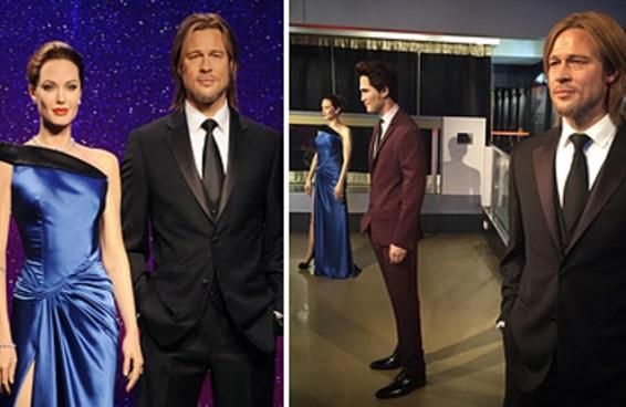 Os bonecos de cera de Angelina e Brad foram separados, então agora é oficial