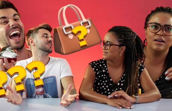 Vídeo: mulheres e homens comparam conteúdo das bolsas