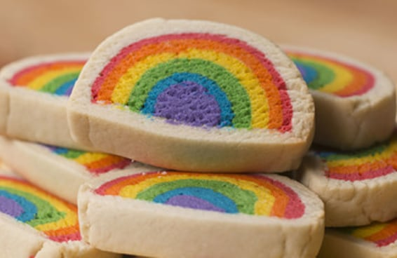 Cookies arco-íris