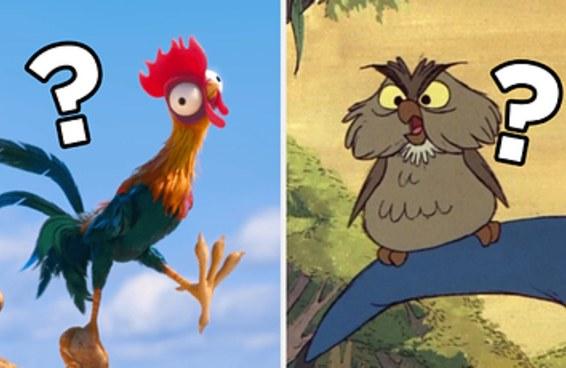 Aposto que você não sabe de quais filmes da Disney são esses pássaros