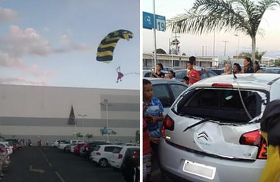 A festa da chegada do Papai Noel deu muito ruim em um shopping no interior da Bahia