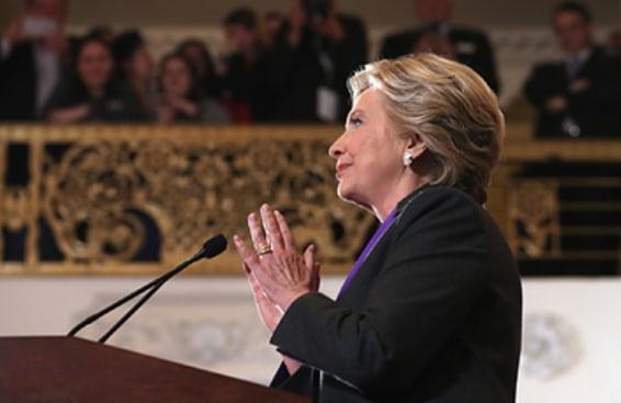 Aqui está a transcrição do discurso de derrota de Hillary Clinton