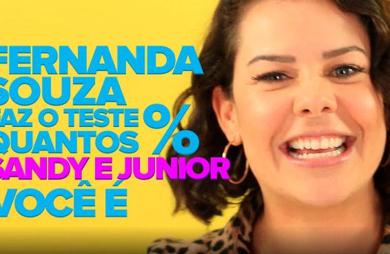 """Fernanda Souza responde o quiz """"Quantos % Sandy & Junior você é?"""""""