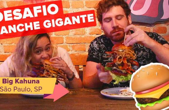 DESAFIO BRING ME: Desafiei meu amigo a comer um lanche gigante com 5 hamburgueres