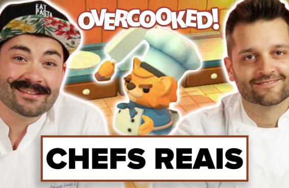 Chefs de cozinha jogam Overcooked