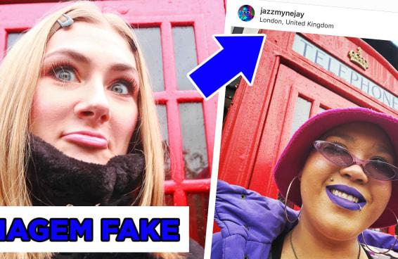Desafio: fingimos uma viagem para Londres no Instagram