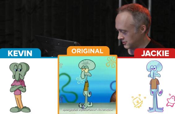 Animadores e Cartunistas Desenham Personagens do Bob Esponja só com a memória
