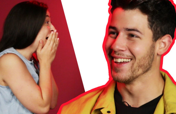 Desafio estilo piscou-perdeu com Nick Jonas