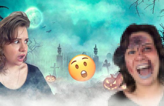 Fizemos uma make de Halloween em 15 minutos