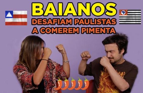 Baianos desafiam Paulistas a comerem pimenta