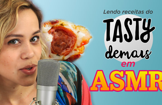 Lendo receitas do Tasty Demais em ASMR