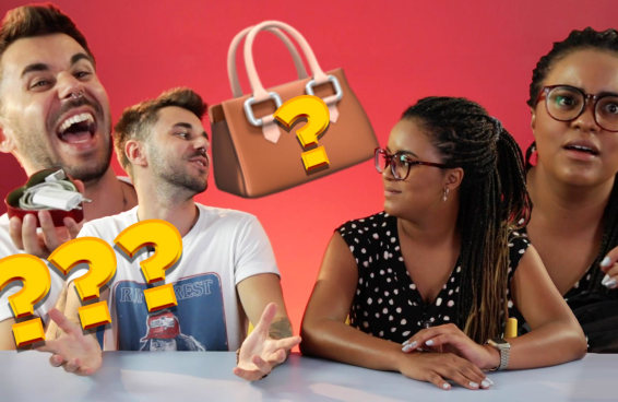 Mulheres e homens comparam o que têm em suas bolsas