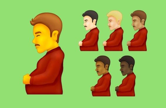 A lista de possíveis novos emojis tem um homem grávido - e a gente amou isso!