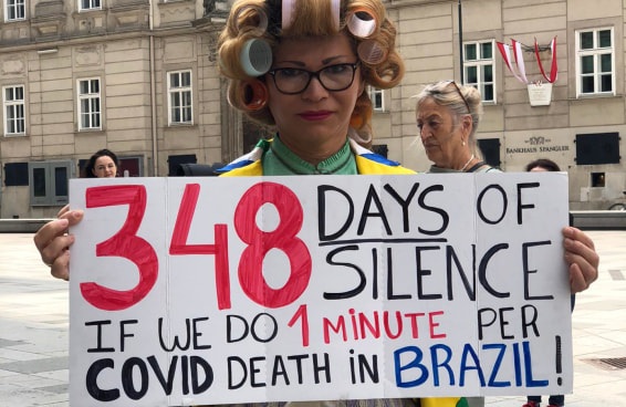 #3J: Na gringa também rolaram manifestações contra Bolsonaro