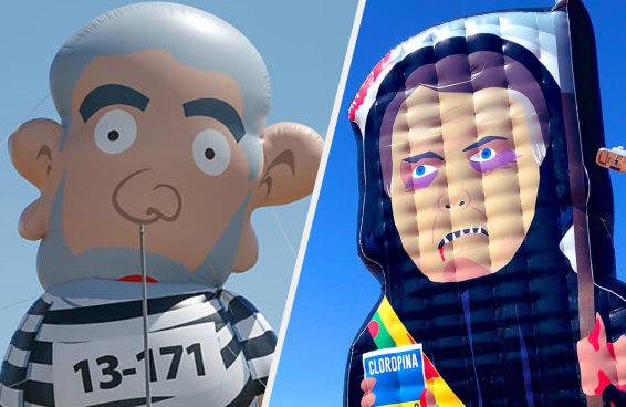 11 figuras políticas que já viraram bonecos infláveis