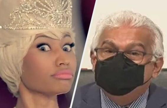 Após dizer que vacina causa inchaço nos testículos, Nicki Minaj é desmentida pelo ministro da Saúde de Trinidad e Tobago