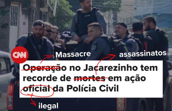 Corrigindo as manchetes sobre o massacre do Jacarezinho