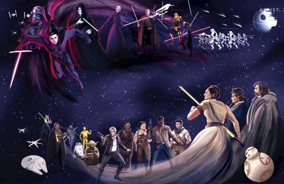 O Disney+ usou artes de fãs de Star Wars no 4 de maio