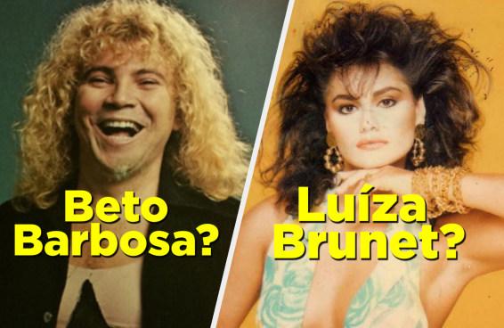 Quantas celebridades brasileiras dos anos 80 você consegue identificar?