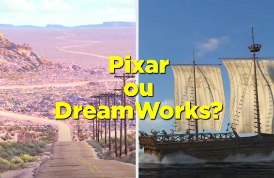 Adivinhe se estes filmes são da Pixar ou da DreamWorks só com uma imagem aleatória