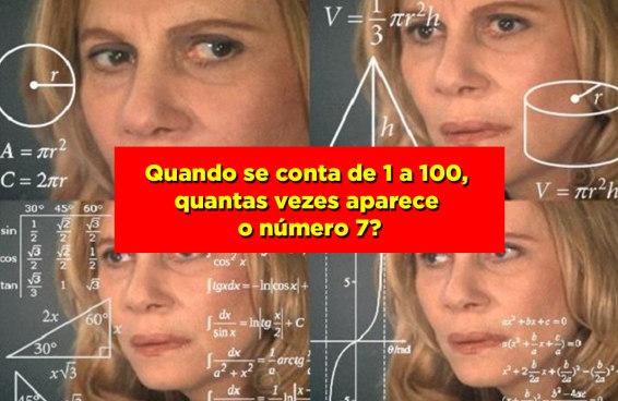 Apenas pessoas com QI muito alto vão gabaritar esse teste de matemática