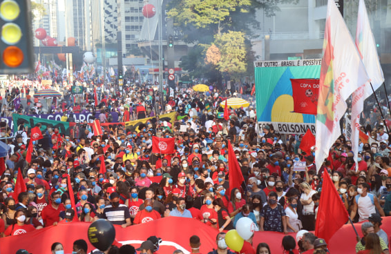 Estas imagens mostram com o foi o #24JForaBolsonaro nas capitais brasileiras
