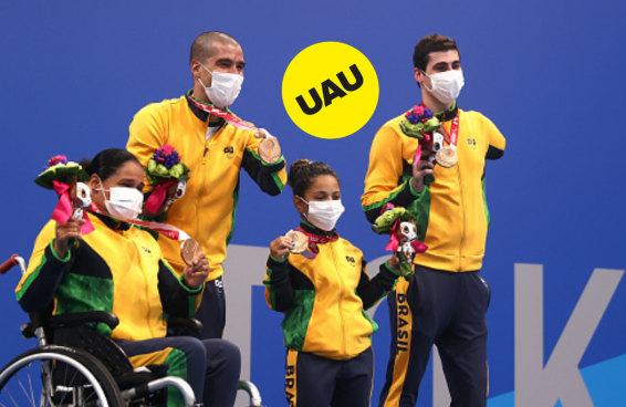 Tá na hora de comemorar as nossas primeiras - e muitas - medalhas na Paralimpíada
