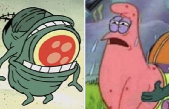 Estas imagens fora de contexto provam que 'Bob Esponja' é o desenho mais estranho