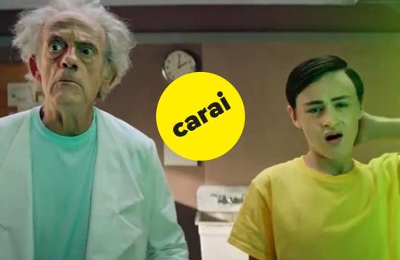 Este vídeo que mistura 'Rick and Morty' com 'De Volta Para o Futuro' nos deixou muito confusos