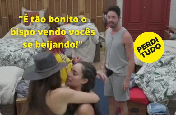 """O beijo ao vivo entre Day e Aline em """"A Fazenda"""" gerou as melhores reações possíveis"""