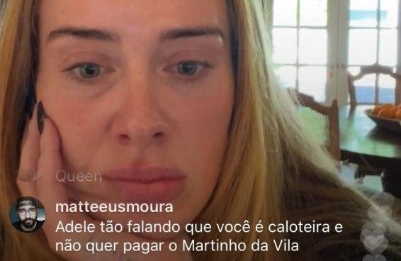 Os brasileiros não deram sossego a Adele em live e cobraram por suposto plágio de Martinho da Vila