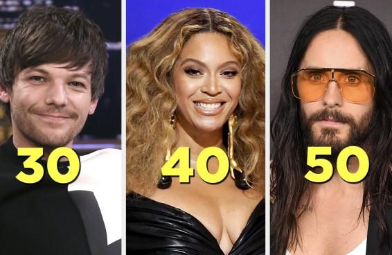 Você vai se sentir velho quando ver que estes famosos estão completando 30, 40 e 50 anos em 2021