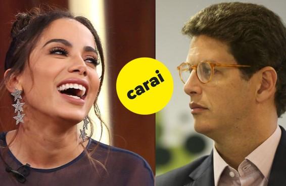 Ontem a Anitta jantou o ministro do meio ambiente e a internet foi à loucura