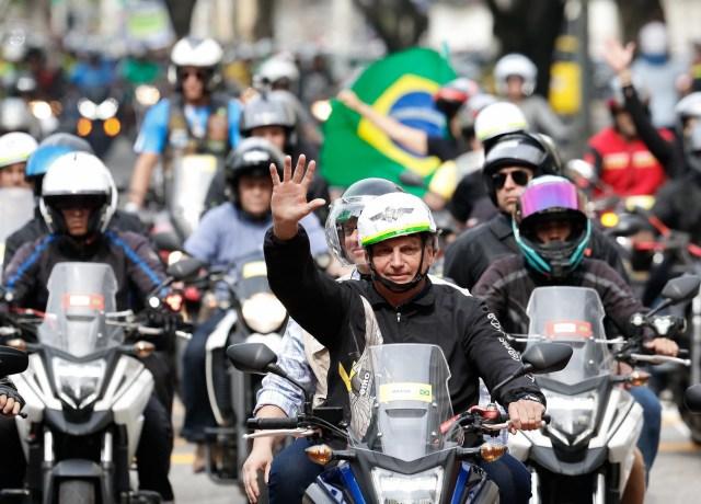 Bolsonaro na motociata do Rio
