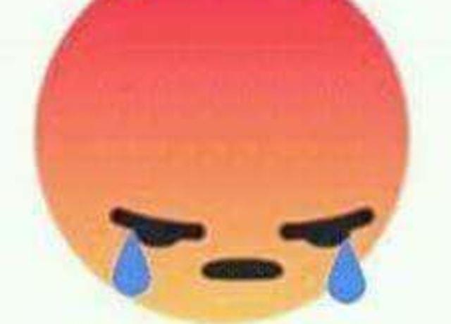 Emoji bravo e triste, chorando