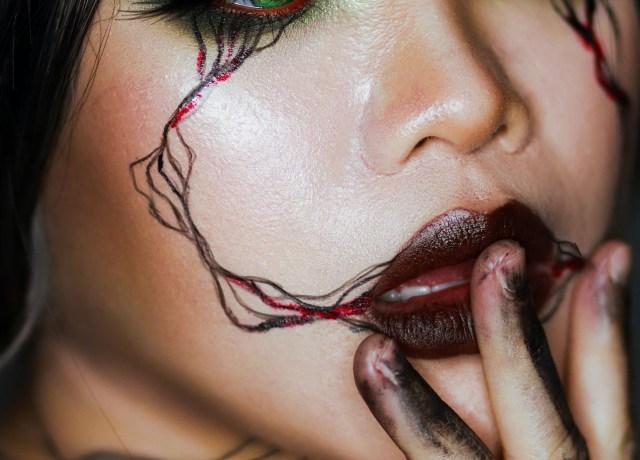Uma maquiagem meio macabra