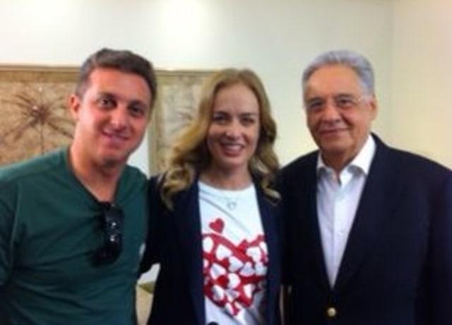Luciano Huck, Angelica e Fernando Henrique Cardoso