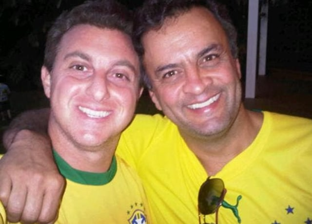 Huck e Aécio Neves