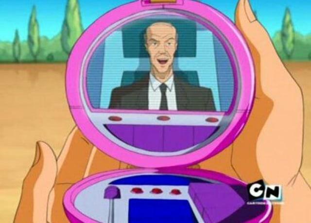 Um espelho de maquiagem transmitindo vídeo